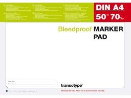 Bleedproof Marker Pad, 70 g/m²