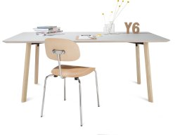 Modulor Y6 table, ash wood, natural, 10°