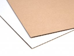 Fine corrugated board, double-sided
