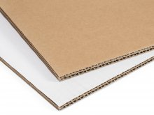 Double corrugated board, double-sided