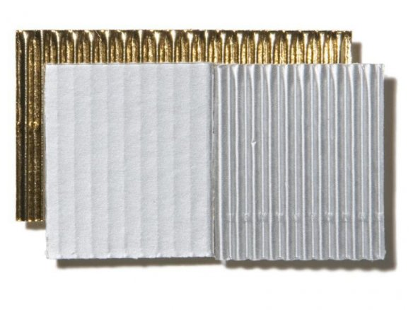 Micro-corrugated board, one-sided, sheet, metallic