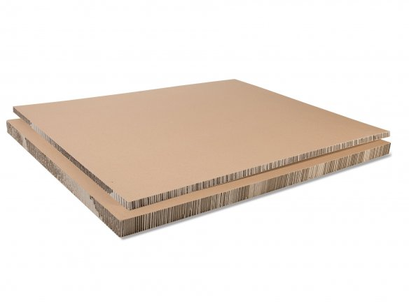 Honeycomb board, paper-clad, brown