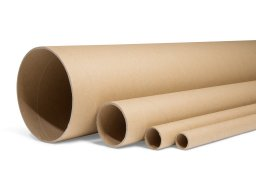 Laminated paper tube, round, brown