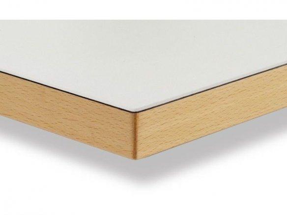 Linoleum Tischplatte mit Umleimer