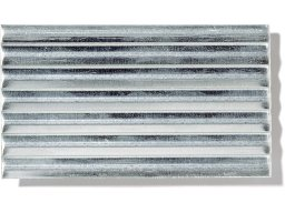 Aluminium medium-corrugated sheets (custom cutting available)