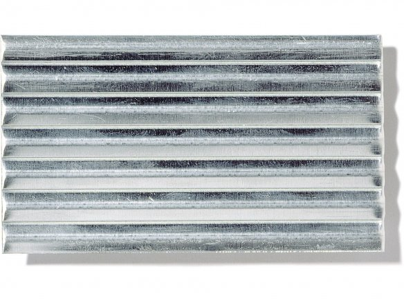 Aluminium medium-corrugated sheets