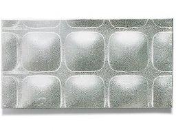 Chapa de aluminio, con relieves cuadrados