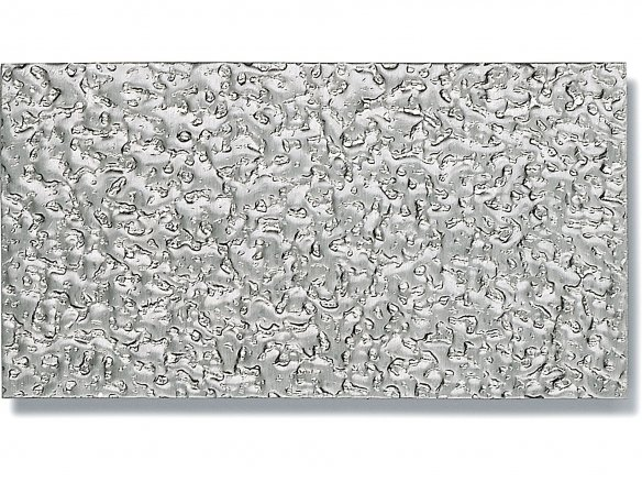 Aluminium stucco-patterned sheets