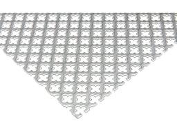 Lamiera di acciaio grezzo con fori a crocetta (taglio disponibile)