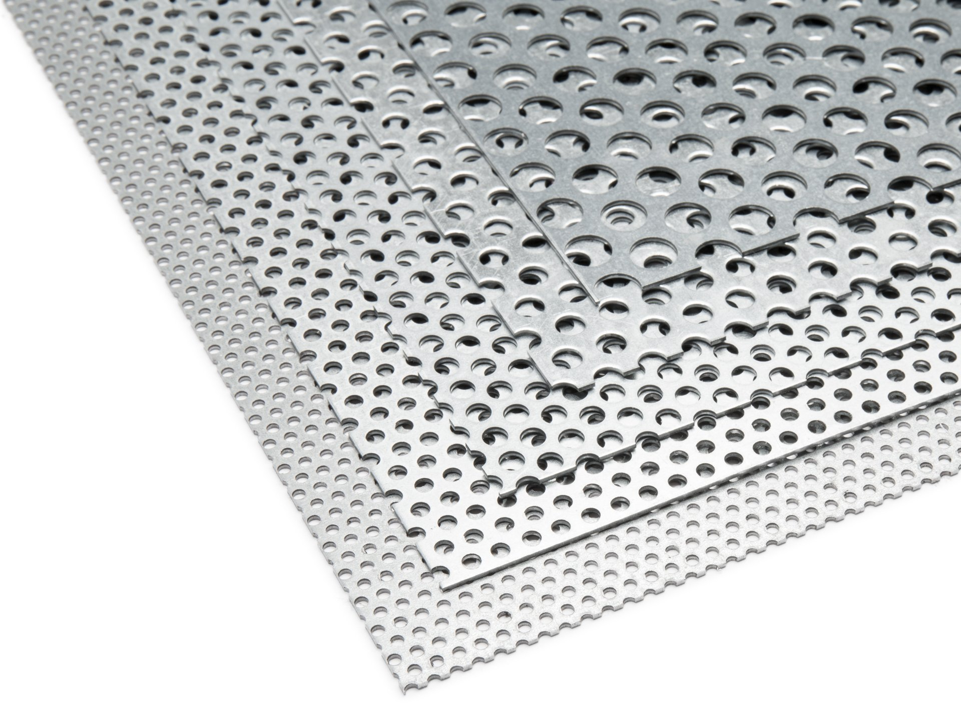 Buy Galvanised, steel round-holed, staggered pitch as custom cutting ...