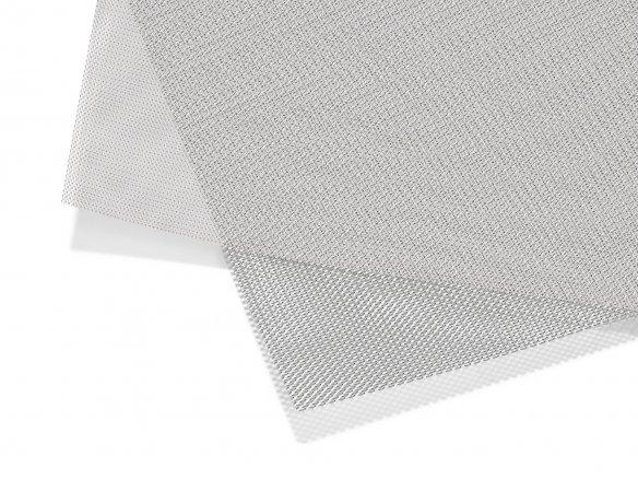 Alluminio stirato, maglia ultra fine