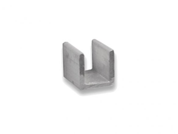 Aluminium U-shaped profile, equilateral