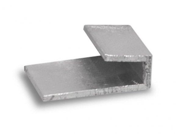 Aluminium frame profile, J-form