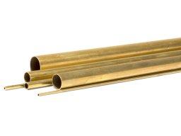 Round tube, brass