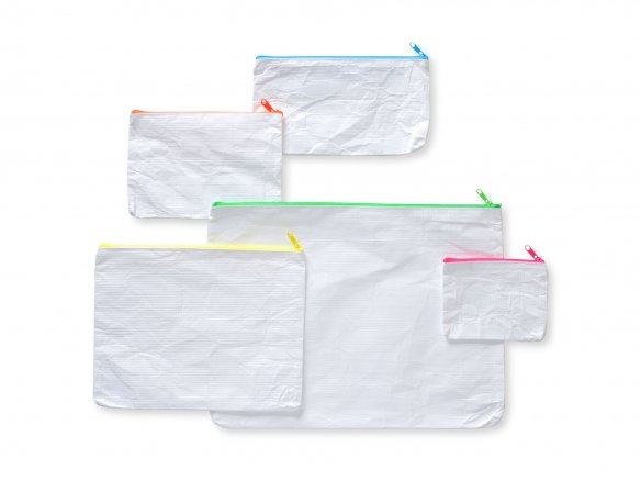 Zipper bag, Tyvek (spun polyethylene), white
