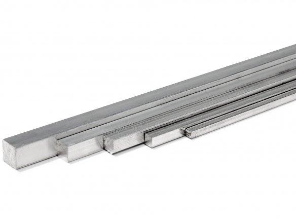 Barra quadrangolare di alluminio