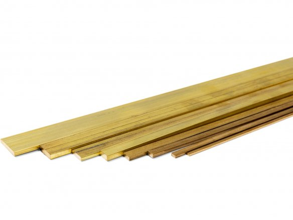 Rectangular rod, brass