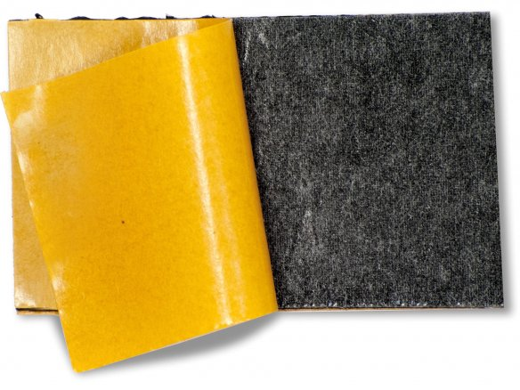 Cellular rubber mat, adhesive on both sides