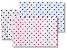 Cotton, white with small coloured dots (5578)