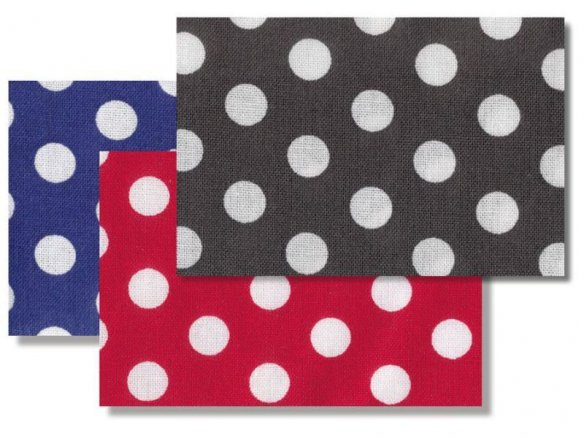 Cotton, monochrome with large white dots (5576)