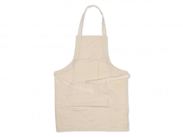 Cotton aprons, undyed