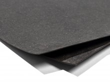 Leather fibre fabric, anthracite, mottled