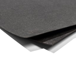 Leather fibre fabric, raw, anthracite, mottled