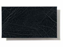 Lámina de cuero sintético de PVC blando, negra