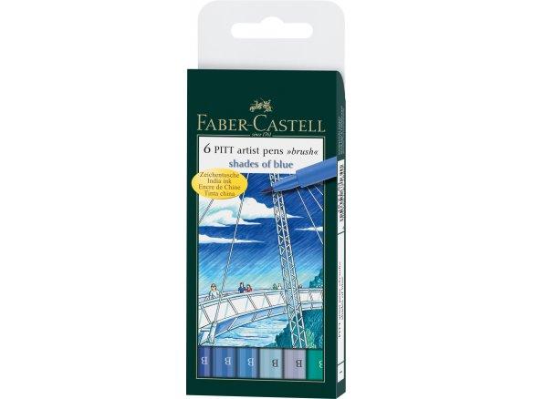 Faber-CASTELL pitt artist pen 6er étui shades of Grey