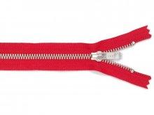 Zip fastener, metal silv. col. 5 mm, not separable