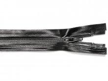 Zip fastener, plastic, water-repellent, separable