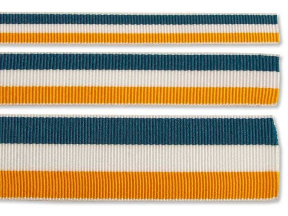 Grosgrain ribbon, rib weave, striped (lengthwise)