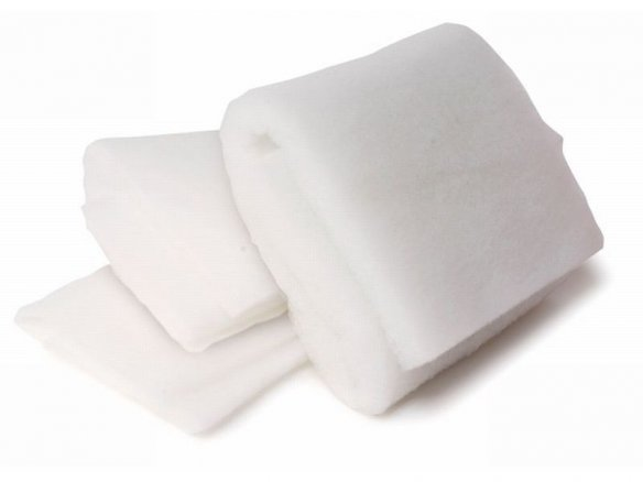 Polyester bulk fleece, white