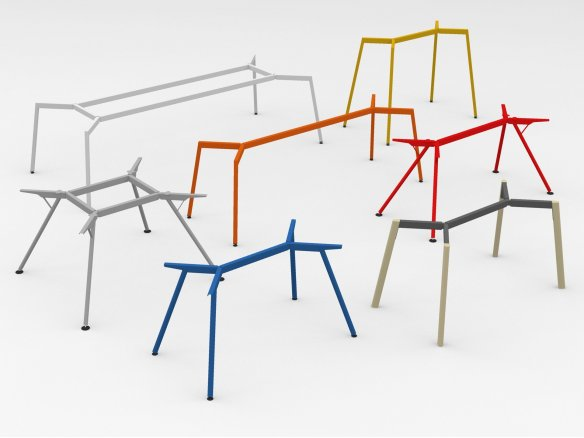 Modulor Y2 table system, coloured