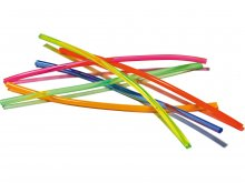 Soft-PVC neon round cord, coloured