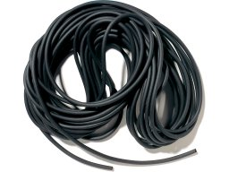 Foam rubber cord, round, black