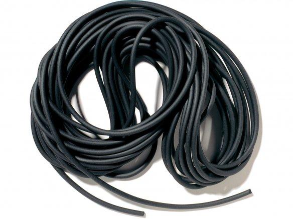 Cuerda redonda de goma EVA, negra