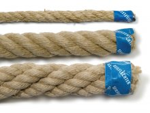 Hemp rope, twisted