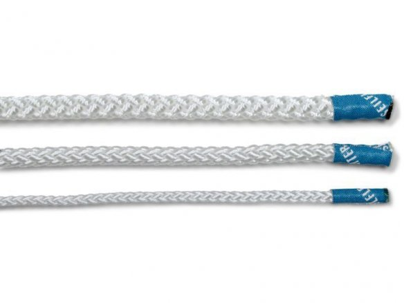 Polyamide braided rope, white