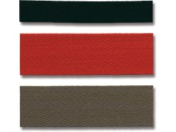 Cotton twill tape, coloured