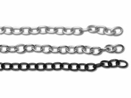 Aluminium link chain, non-welded
