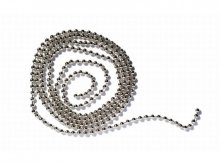 Bead chain, nickel-plated