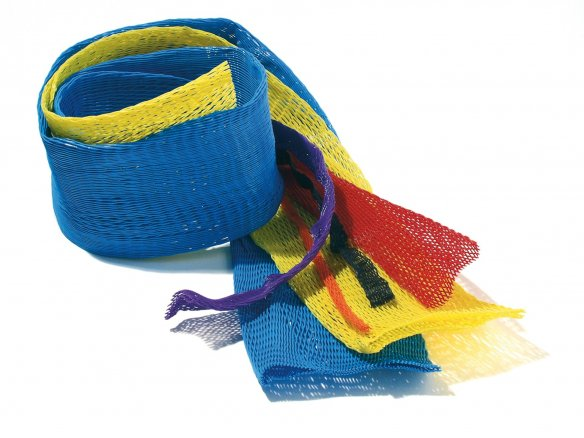 Tubo malla de polietileno, de color