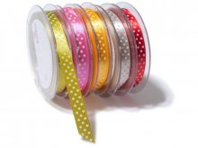 Satin ribbon, polka-dotted