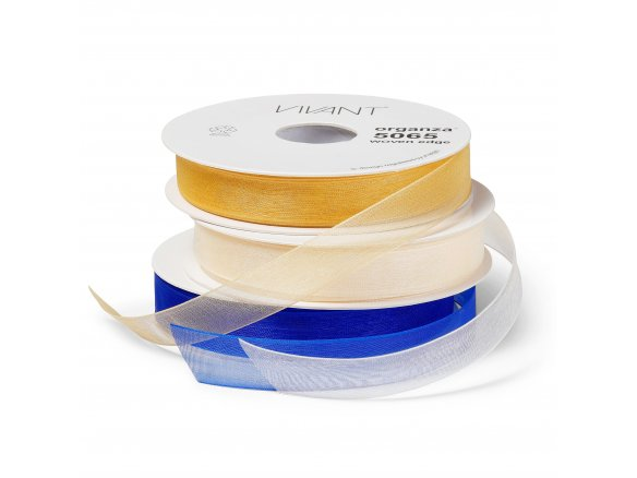 Organza ribbon, coloured