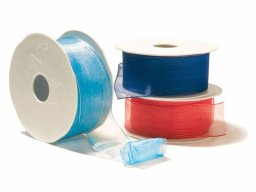 Organza ribbon, coloured with wire
