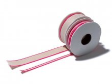 Fabric ribbon with neon coloured border