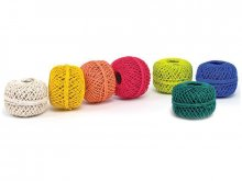 Gift wrapping twine, Polo cotton, twisted