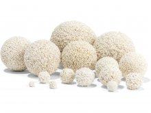 Esfera de caucho esponjoso, blanca