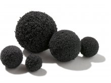 Esfera de caucho esponjoso, antracita